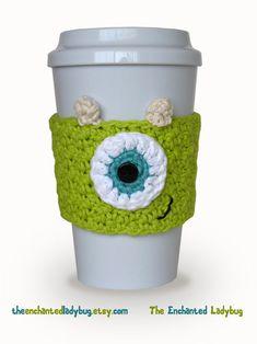 Mike Crochet Coffee Cup Cozy by TheEnchantedLadybug on Etsy