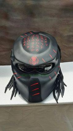 Predator Helmet custom for street fighter Style-DOT Approved by PanjiArtHelmet on Etsy