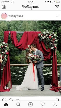 New Wedding Arch Rustic Flowers Ceremony Backdrop Ideas – Wedding Tips & Themes Winter Wedding Ceremonies, Outdoor Winter Wedding, Wedding Arch Rustic, Winter Wedding Decorations, Wedding Ceremony Decorations, Wedding Backyard, Rustic Backyard, Wedding Arches, Ceremony Arch