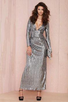 Nasty Gal Alloy Crinkle Dress #dress #women #covetme #nastygal