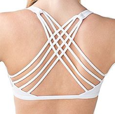 Amazon.com: Lululemon Free To Be Wild Strappy Sports Bra White (6): Sports & Outdoors