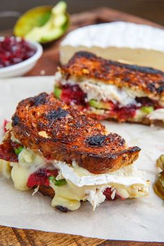 Cranberry and Brie Turkey Grilled Cheese with Avocado and Bacon Recipe on Closet Cooking Cranberry and Brie Turkey Grilled Cheese with Avocado and Bacon Recipe on Closet Cooking Sam Rees work This Cranberry nbsp hellip Cheese brie Grilled Cheese Avocado, Grilled Cheese Recipes, Grilled Sandwich, Bacon Recipes, Turkey Recipes, Cooking Recipes, Healthy Recipes, Brie Sandwich, Steak Sandwiches