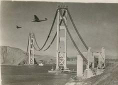 Golden Gate Bridge, 193? - a belated Happy 75th Birthday to The Bridge