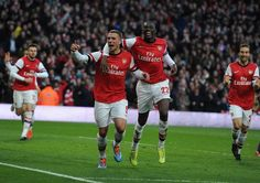 Arsenal 2 Liverpool 1 - Celebrating our second.