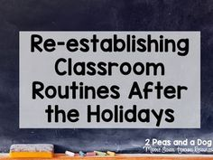New Years Goal Setting and Re-establishing Classroom Routines