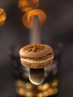 Macaron with foie gras Ganache Torte, Bistro Food, Desserts With Biscuits, Fast Easy Meals, Xmas Food, Cooking Chef, Christmas Appetizers, Coco, Puddings