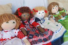 Some of the girls from Bagdollia International. Plastic Bag Holder Dolls, Bag Dolls for pajamas, uderwear, lingerie.