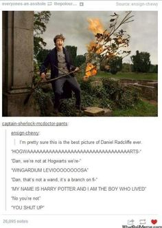 Harry Potter Daniel Radcliffe Humour. Dan has finally broke