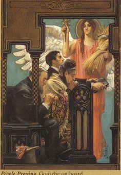 J.C. Leyendecker, original painting, illustration art for Success Magazine cover.