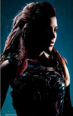 Horizon Zero Dawn Wallpaper, Horizon Zero Dawn Aloy, Female Heroines, Beauty Illustration, Viking Warrior, Warrior Princess, Visionary Art, Playstation, Videogames