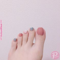 The wedding manicure - the beauty of the bride is in the smallest details - My Nails Pedicure Colors, Manicure E Pedicure, Nail Colors, Feet Nail Design, Toe Nail Designs, Stylish Nails, Trendy Nails, Asian Nails, Kawaii Nails