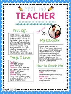 I m going to quickly post and run just wanted to post my for Meet the teacher brochure template
