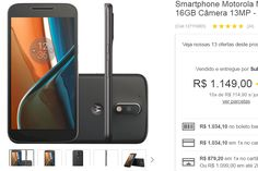 Smartphone Moto G 4 Dual Chip Android 6.0 Tela 5.5'' 16GB Câmera 13MP << R$ 87920 >>