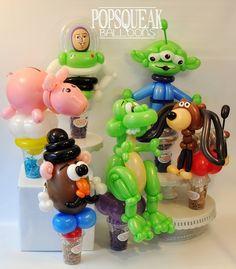 Balloon Toys, Balloon Hat, Balloon Crafts, Balloon Animals, Balloon Bouquet, Balloon Arch, Balloon Decorations, Toy Story Baby, Disney Balloons