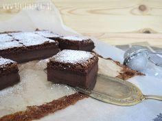 Vollmilch-Schokopudding-Kuchen rehlein backt. Magic Custard Chocolate Cake.