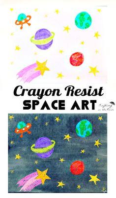 Crayon Resist Space Art