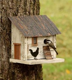 Chicken Coop Birdhouse | Rustic birdhouse, birdhouse for songbirds, chicken coop design birdhouse.