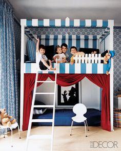 fun kids room ladder bunk beds