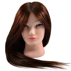 Competent Color Training Mannequin Head Female Hair Head Doll 22 Inches Mannequin Doll Head Hairdressing Training Heads Styling Hair Extensions & Wigs Tools & Accessories