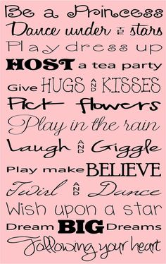 Be a princess - Quote - Vinyl Wall Decal.For my Princess Im A Princess, Princess Quotes, Princess Party, Pink Quotes, Cute Quotes, Miracle Quotes, Fitness Motivation, Disney Quotes, Queen