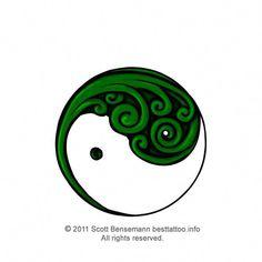 New Zealand Maori Silver fern koru yin yang colour tattoo design Ethnic Jewelry, Koru Tattoo, Zentangle, Anniversary Tattoo, Sharpie Tattoos, Yin Yang Tattoos, Maori Tattoos, New Zealand Tattoo, Maori Tattoo Designs