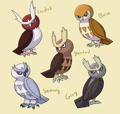 PokemonSubspecies: Noctowl by CoolPikachu29.deviantart.com on @DeviantArt