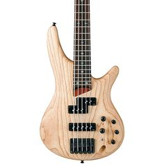 Ibanez SR655 5-String Electric Bass Guitar Natural Flat $750