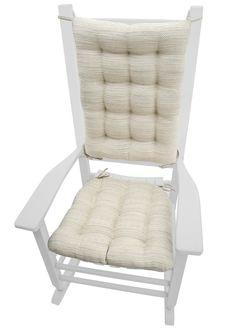 Brisbane Mist Grey Rocking Chair Cushions - Latex Foam Fill - Reversible