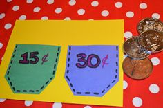 Here's a nice idea for making and using math money pockets.
