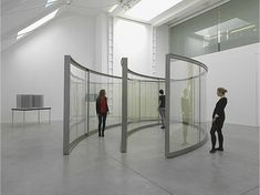 Dan Graham - Two 2-Way Mirror Ellipses, One Open, One Closed 2011-2012 - Lisson Gallery