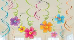 Luau Swirl Decorations Value Pack   12ct for $4.33 in Luau - Theme Parties - Theme & Event Parties