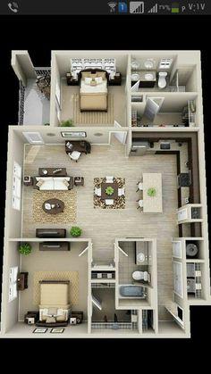 House living room Bedroom Feng shui design