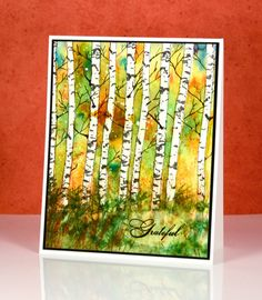 birch and brusho grateful card by Heather Telford