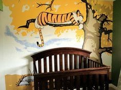 Calvin and Hobbes nursery. Forget the gender-neutral yellow walls and go with two philosophers instead.