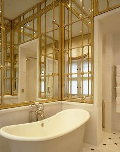 the official site of JP Molyneux Studio Ltd Bathroom Spa, Bathroom Mirrors, Dream Bathrooms, Beautiful Bathrooms, Ceiling Finishes, Wall Panelling, Mirror Panels, Bathroom Pictures, Powder Rooms
