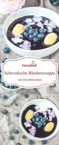 Rezept Heidelbeeren oder Blaubeeren: Swedish Blueberry Soup - Schwedische Blaubeersuppe - Blåbärssoppa