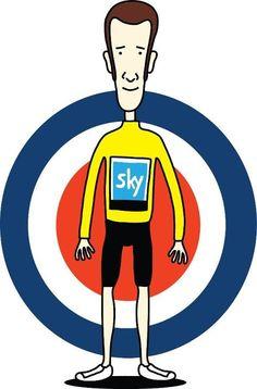 """Great cartoon of Bradley Wiggins North Palm Beach, Palm Beach County, World Cycle, Mountain Bike Shop, Giant Bikes, Bradley Wiggins, Bicycle Store, Get In The Mood, Design Language"