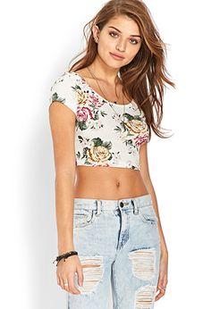 Soft Floral Crop Top | FOREVER21 - 2000073845