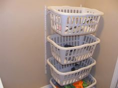 Laundry room idea great for 2 girls sharing a room!!
