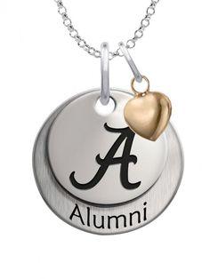 College Jewelry Alabama Crimson Tide Charm 3//4 Antique Finish Sterling Silver Logo