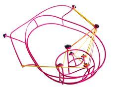 EXPO Suspend-ed in Pink - The Atrium-The School of Jewellery, Birmingham (UK) -  7-28 Janv. 2013 dans Alexandra HOPP (US) Karen+Bartlett-+School+of+Jewellery,+Birmingham,+UK.NECKPIECE++01.+H+33+X+W26++X+D+11cm+2010.+Copper,+CZ,+hematite,+rubber+bands,+powder+coat.+copy