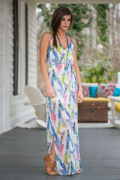 """Party Time Maxi, Ivory-Multi"""
