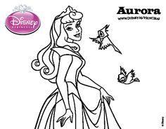 Dibujo de La Bella Durmiente - Aurora para colorear