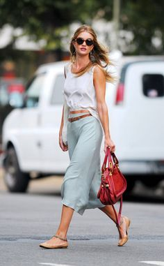 fresh, cool, casual, comfortable, chic and pulled together.  Enjoy the heat of the summer wearing light fabrics, cropped tops that subtly show your abs and neutral flats. Patel + neutral colors are the must have this summer.  Personalimagecompany.com