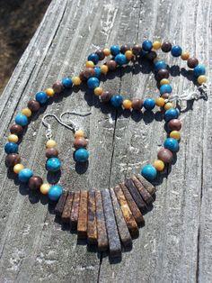 Brown Jasper Native American Fan Style Necklace by SouthCoastRocks, $25.00