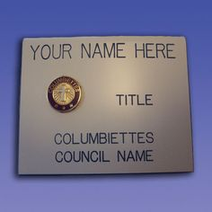 No. 615/C - Ladies Magnetic Name Badge