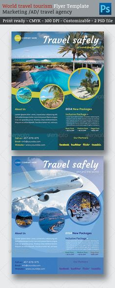 GraphicRiver World Travel Tourism Marketing Flyer Template 6913942