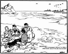 Visit the post for more. Spanish People, China People, Appeasement, Oral History, Nose Art, Political Cartoons, World War Two, Caricature, Politics