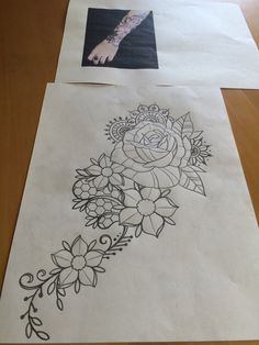 Want the pearls on my tattoo like this not too much on the bigger - 1000 Ideas About Lace Rose Tattoos On Pinterest Lace
