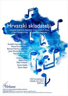 VIRTUOSO, classical music posters by Laura Bosazzi, via Behance